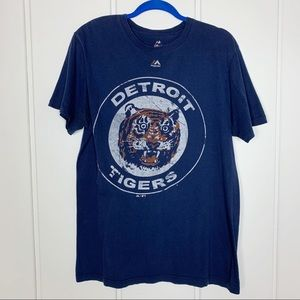 Detroit Tigers Navy Graphic Tee Shirt